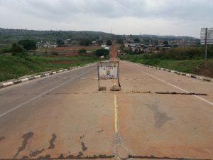 Oraba border between Uganda and South-Sudan